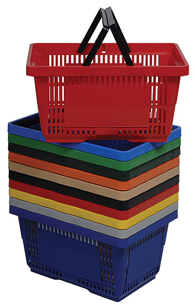 28 Liter Grocery Shopping Plastic Hand Baskets
