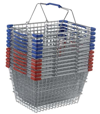Wire Metal Shopping Hand Baskets