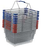 28 Liter Metal Grocery Shopping Hand Baskets