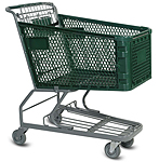Large Plastic Grocery Shopping Cart