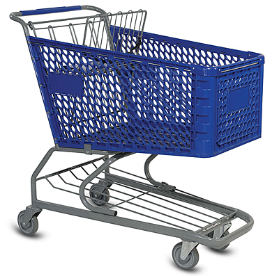 V Series Plastic Grocery Shopping Cart