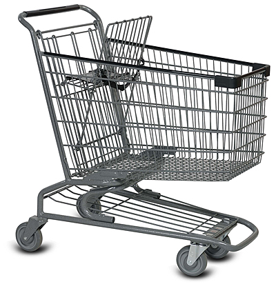 Metal Wire Grocery Shopping Cart